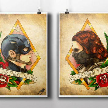 Captain America: The Winter Soldier Tattoo Parlour Prints