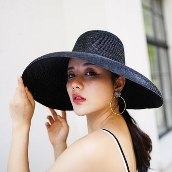 Beach Hat Vintage Wide Brim Straw Hat 2018 New Summer Sun Hats for Ladies Female Bucket Hat 681024