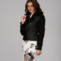 Sale- Black Quilted Fur Collar Jacket