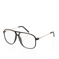 F5067 Matte Aviator Readers Black/Clear One