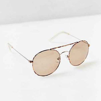 Heritage Rounded Aviator Sunglasses-
