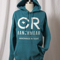 Teal Hoodie with White Logo