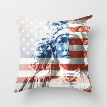 Native Americans in the United States Throw Pillow by Jbjart