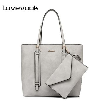LOVEVOOK brand fashion shoulder bag for women high quality clutch composite bag zipper large capacity totes new handbags
