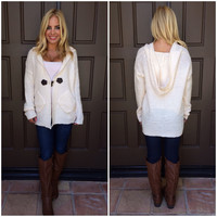 Langdon Thick Knit Cardigan - IVORY