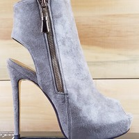 """Luichiny Kay Cee Taupe Ankle Boots - 5"""" Heels"""