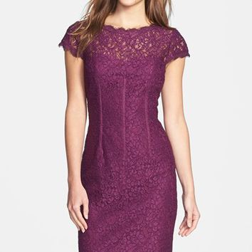 Women's Adrianna Papell Seam Detail Lace Cocktail