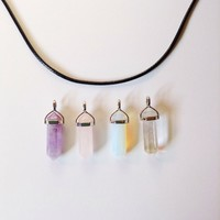 Crystal on Vegan Leather Cord by Chokurs