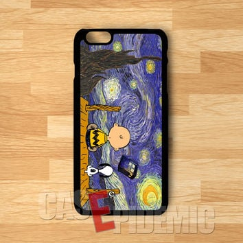 Snoopy Doctor Who looking at the night -sween for iPhone 6S case, iPhone 5s case, iPhone 6 case, iPhone 4S, Samsung S6 Edge