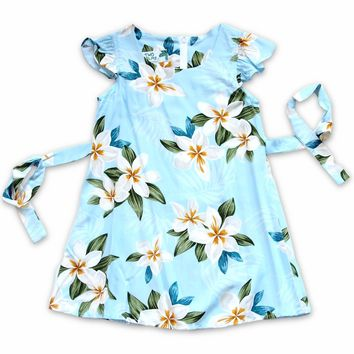 Escape Blue Hawaiian Girl Rayon Dress