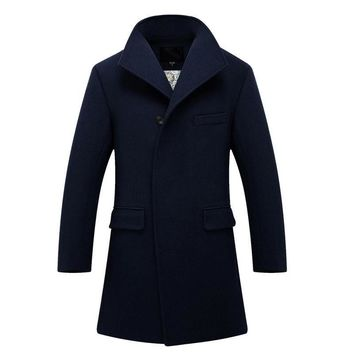 Men Wool Coat - Winter Wool Jacket - Casual Coat
