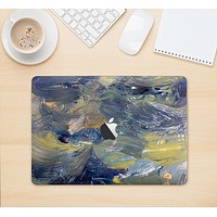 """The Blue & Yellow Abstract Oil Painting Skin Kit for the 12"""" Apple MacBook"""