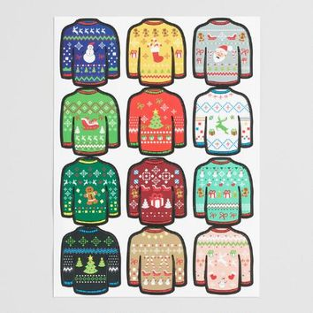 Ugly Sweater Glass Markers Set of 12