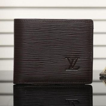 PEAPUF3 LV Man Leather Purse Wallet