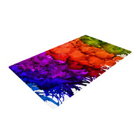"""Claire Day """"Rainbow Splatter"""" Woven Area Rug"""