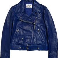 Acne Studios | Mape leather biker jacket | NET-A-PORTER.COM