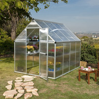 Palram Nature Twin Wall 6 Ft. W x 8 Ft. D Polycarbonate Greenhouse