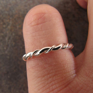 Silver Stacker Ring Number 13