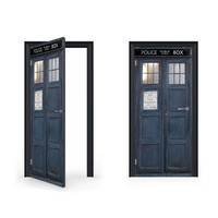 Time Travelling Tardis Door Wrap Sticker