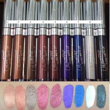 9pc colourpop Ultra Metallic  Lipstick Tulle Avenue Succulent Drive in Dount Colours Nutritious Matte Liquid Lipsticks COLOURPOP