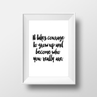"""Inspirational poster """"Become who you really are"""" Motivational quote Typography art Typographic print Wall artwork Printable quotes Word art"""