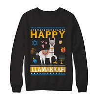 Happy Llama Llamakkah Hanukkah Ugly Sweater