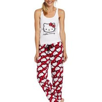 Hello Kitty Juniors HK for Life Face Print Pajama Set