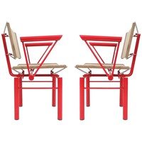 Pair of Bitsch Chairs by Hans Ullrich Bitsch, 1980