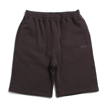 Stock Fleece Shorts Light Black