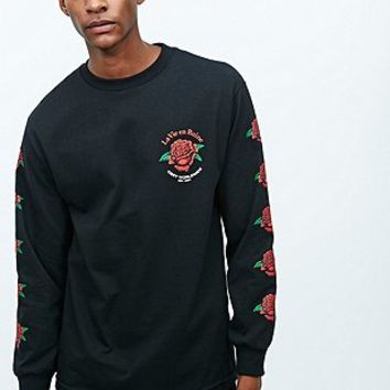 Obey La Vie En Ruine Long Sleeve Tee in Black - Urban Outfitters