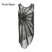 Punk Rave Womens Rock Top Shirt Vest with Spider Visual Kei Casual harajuku emo Summer Style T318