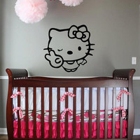 Peace Hello Kitty custom vinyl decal