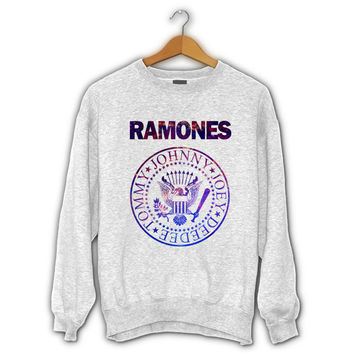 Ramones Band Logo Galaxy Sweater I Official Merchandise For Mens and Womens