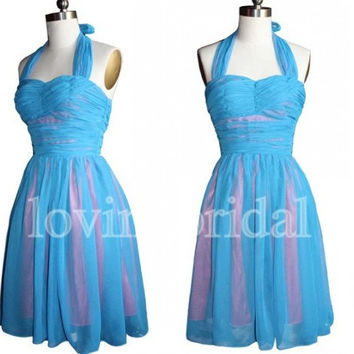 Short Halter Prom Dresses Party Dresses Cocktail Dresses Homecoming Dresses 2014 New Fashion