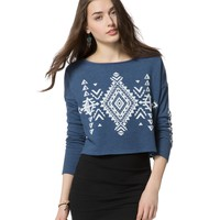 Southwest Geo Cropped Sweatshirt