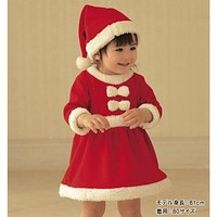 Christmas baby girls dress with free hat baby christmas new year costume fashion baby clothes newborn dresses for baby girls