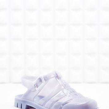 JuJu Maxie Jelly Sandals in Pearl Lilac - Urban Outfitters