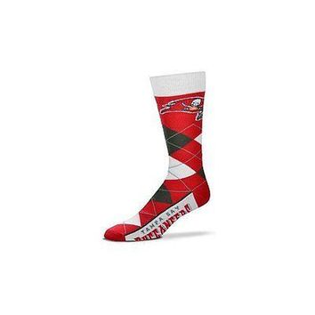 NFL Tampa Bay Buccaneers Argyle Unisex Crew Cut Socks - One Size Fits Most