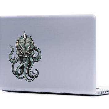 Cthulhu Vinyl Laptop or Automotive Art FREE SHIPPING decal laptop notebook art sticker ornate detailed monster scary tentalces