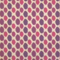 Pink Purple Pitter Patter Kraft Gift Wrapping Paper
