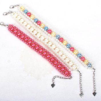 Cat Collar Puppy Pet  Pearl Necklace