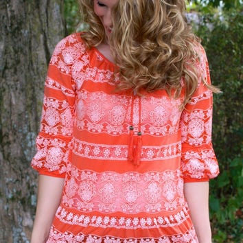 Orange Sunrise Top: Orange