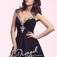 Mac Duggal 64887 - Black Sequin Chiffon Homecoming Dresses Online