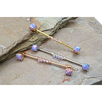 Purple Opal Industrial Barbell