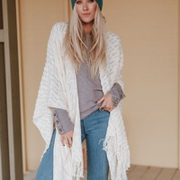 Joy Cozy Knit Wrap - Ivory