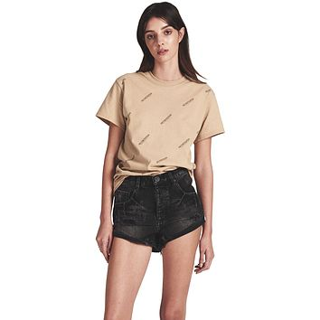 One Teaspoon Bandits Mid Waist Denim Shorts Double Bass