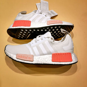 Adidas NMD R1 PK Boost Goddess White/Pink  Fashion Sneakers Trending Running Sports Shoes