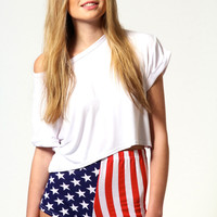 Tess Stars and Stripes Hotpants