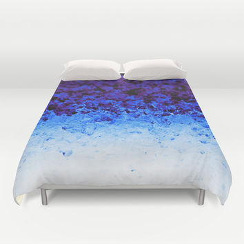 Indigo Blue Ombre Crystals Duvet Cover by 2sweet4words Designs