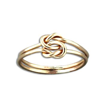Love Knot Ring - Gold Filled